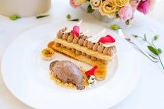 Очень вкусный ресторан десерта мороженого Стоковые Изображения