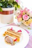 Очень вкусный ресторан десерта мороженого Стоковые Фотографии RF