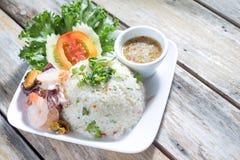 Очень вкусный рис с морепродуктами Стоковые Фото