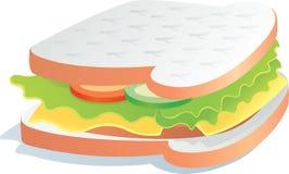 Очень вкусный сандвич стоковая фотография
