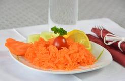 Очень вкусный салат моркови Стоковое Фото