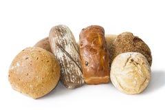 Очень вкусный свежо испеченный хлеб изолированный на белой предпосылке стоковые фото