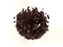 Очень вкусный светлый жидкостный шоколад на белой предпосылке стоковые фото