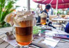 Очень вкусный сметанообразный кофе льда в кафе Стоковое Изображение