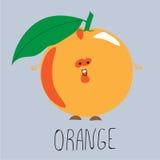 Очень вкусный сочный апельсин Стоковое Изображение