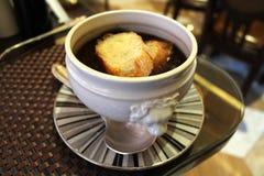 Очень вкусный суп чеснока Стоковые Изображения RF