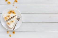 Очень вкусный торт банана на таблице Стоковое Изображение