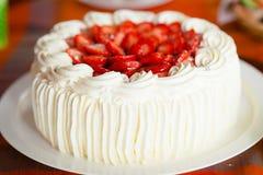 Очень вкусный торт клубники Стоковое фото RF