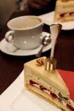 Очень вкусный торт марципана Стоковое фото RF