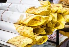 Очень вкусный хлеб Naan индейца Стоковая Фотография RF