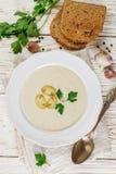 Очень вкусный cream суп с champignons грибов Стоковая Фотография RF