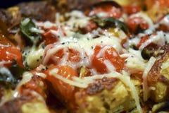 Очень вкусный flatbread пиццы Стоковое Фото