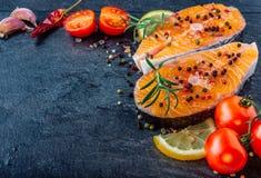 Очень вкусный salmon стейк стоковая фотография rf