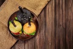 3 очень вкусных бургера Стоковые Изображения RF