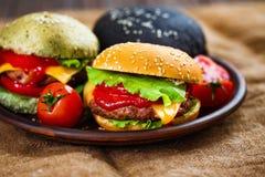 3 очень вкусных бургера Стоковые Изображения