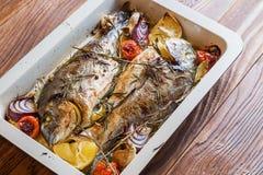 2 очень вкусных всех испеченных рыбы Стоковое Фото