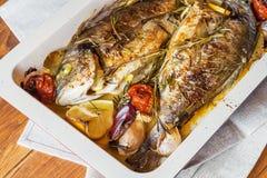 2 очень вкусных всех испеченных рыбы Стоковое Изображение