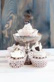 5 очень вкусных пирожных с шоколадом Стоковые Изображения RF