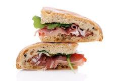 2 очень вкусных сандвича Стоковое Изображение