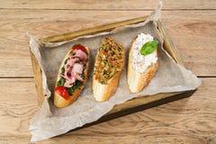 3 очень вкусных сандвича Стоковое Изображение