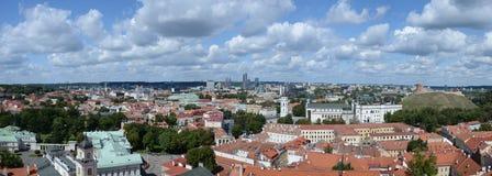 Очень высокий взгляд res панорамный Вильнюса, Литвы Стоковое Изображение