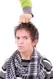 Очень разочарованный и сердитый сумашедший человек Стоковые Изображения RF