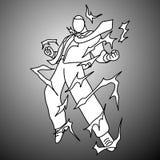Очень сердитый бизнесмен с электрической иллюстрацией d вектора искры бесплатная иллюстрация