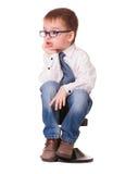 Очень сердитый малыш Стоковая Фотография