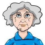Очень смешная бабушка иллюстрация вектора
