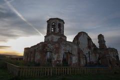 Очень старая загубленная церковь Стоковая Фотография