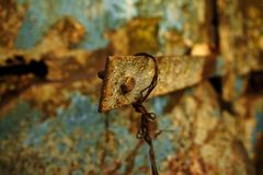 Очень старая ржавая предпосылка металла стоковая фотография