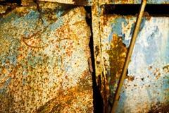 Очень старая ржавая предпосылка металла стоковые фотографии rf