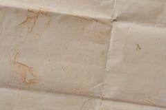 Очень старая скомканная текстура коричневой бумаги Стоковое Изображение RF