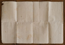 Очень старая скомканная текстура коричневой бумаги Стоковое Фото