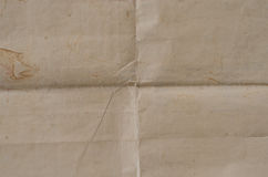 Очень старая скомканная текстура коричневой бумаги Стоковые Изображения RF