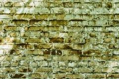 Очень старая текстурированная кирпичная стена шелушения Стоковое Фото