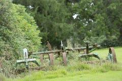 Очень старая травокосилка Стоковые Фото