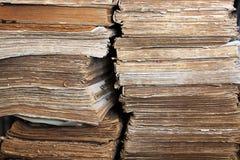 Очень старые книги Стоковые Фотографии RF
