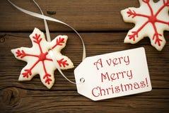 Очень с Рождеством Христовым, приветствия рождества Стоковые Изображения