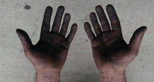 Очень трудная рука деятеля Стоковые Изображения RF