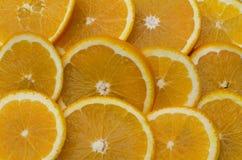 Очередь апельсинов кусков Стоковая Фотография