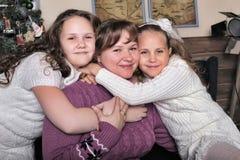 2 дочери с матерью Стоковые Фото