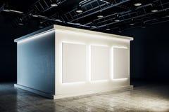 Очистите белый интерьер выставочного зала иллюстрация вектора