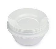 Очистите белые плиты Стоковое фото RF