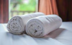 Очистите белый крен полотенца Стоковое фото RF