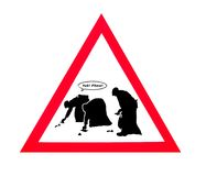 Очистите вверх после вашего знака собаки Стоковые Изображения RF