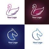 Очистите линию логотип животного Стоковое Изображение RF