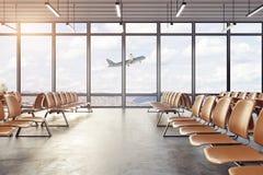 Очистите интерьер авиапорта бесплатная иллюстрация