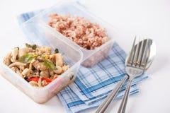 Очистите коробку для завтрака еды стоковое изображение rf