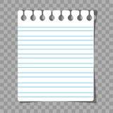 Очистите лист бумаги для примечаний Стоковое Фото